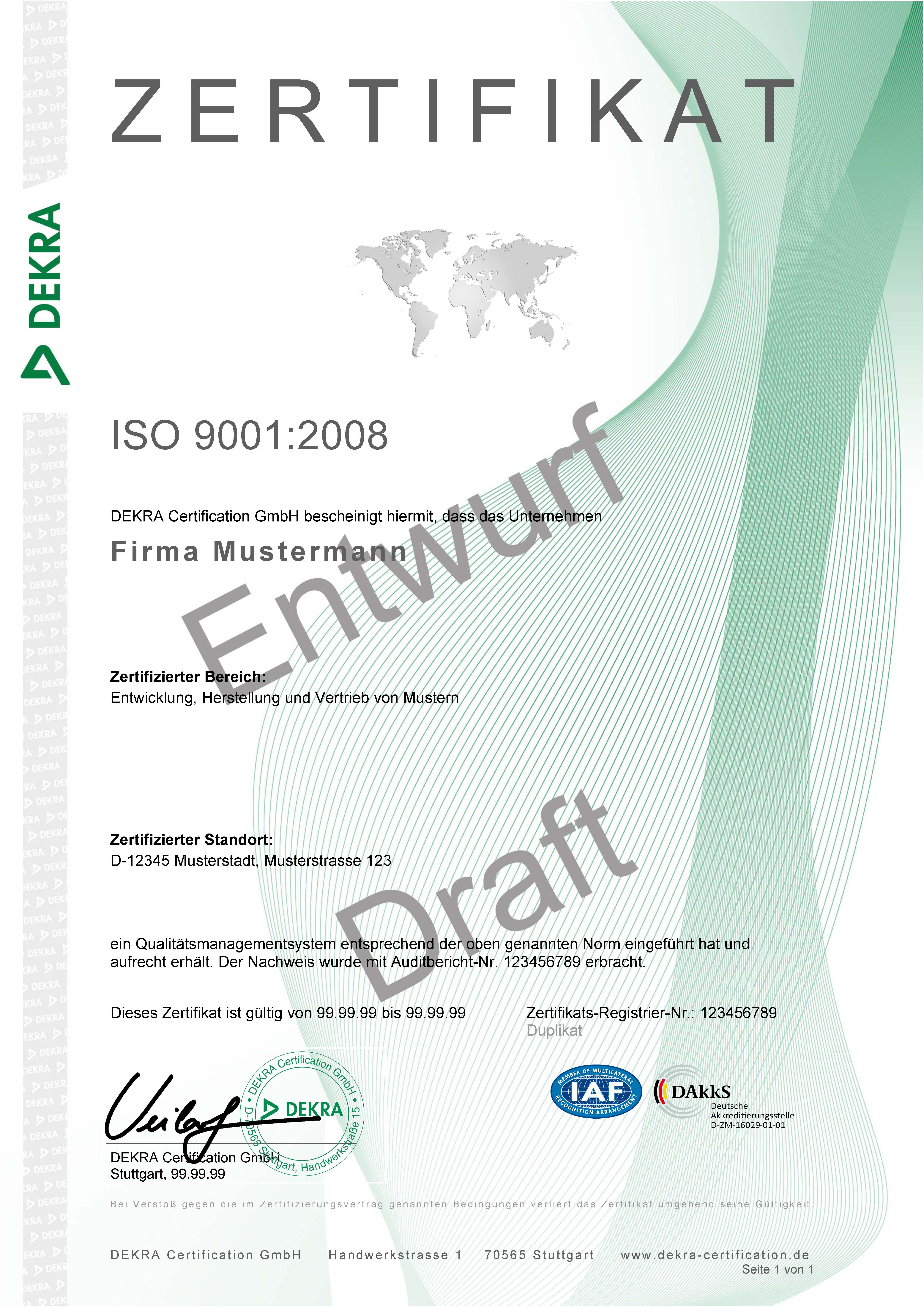 Großzügig Iso 9001 Vorlage Fotos - Entry Level Resume Vorlagen ...